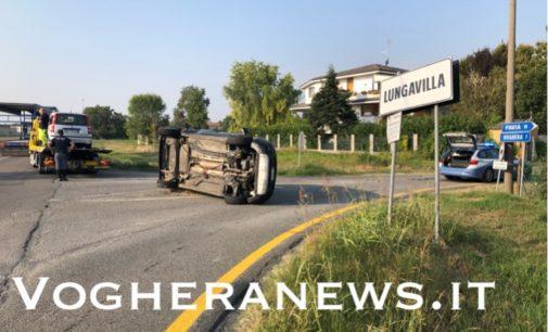 LUNGAVILLA 16/09/2020: Auto si ribalta nello scontro lungo la Bressana-Salice. Ferite due donne. Altri incidenti in mattinata