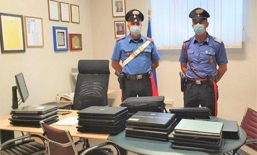 VOGHERA 10/09/2020: Furto nella scuola. I carabinieri scoprono i responsabili e recuperano 36 notebook