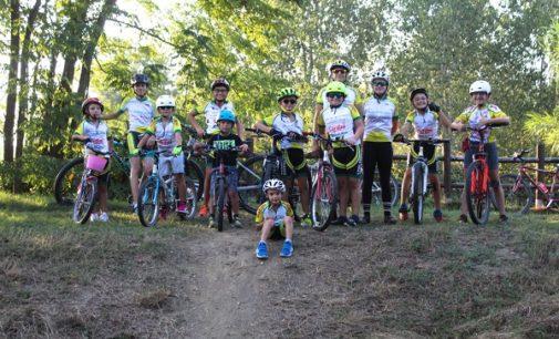 LUNGAVILLA 18/09/2020: Ciclismo. Gli allenamenti dei giovanissimi di Upol al parco palustre. Si cercano nuove leve