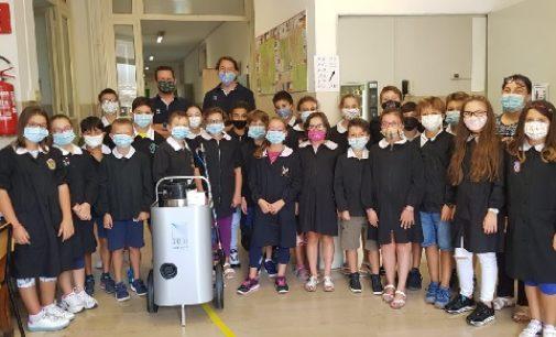 VOGHERA 21/09/2020: Scuola e coronavirus. Due classi in quarantena. Intanto l'IC Pertini riceve in donazione tre apparecchi per sanificare gli ambienti