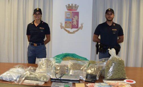 PAVIA 23/09/2020: 4 chili di marijuana in casa. Arrestato gestore di negozio di cannabis light