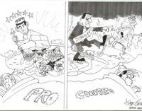 PAVIA VOGHERA 18/09/2020: Il referendum costituzionale visto dal vignettista Luca Cavallaro