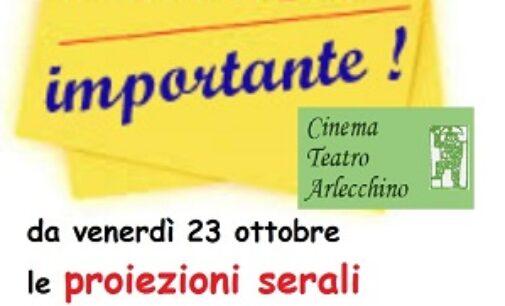 VOGHERA 21/10/2020: Cinema. Orari degli spettacoli anticipati per evitare il coprifuoco
