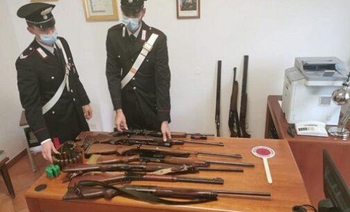 MEDE26/10/2020: I Carabinieri ritrovano i fucili da caccia rubati nell'alessandrino