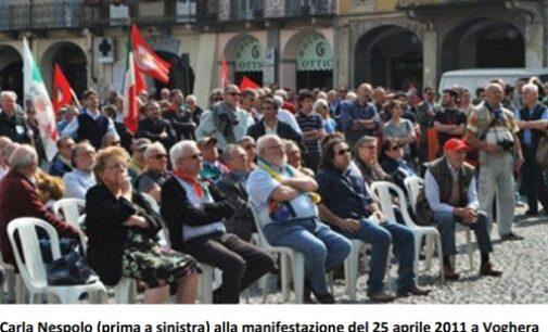 VOGHERA 08/10/2020: Addio a Carla Nespolo. Il cordoglio dell'Anpi iriense per la scomparsa della presidente nazionale