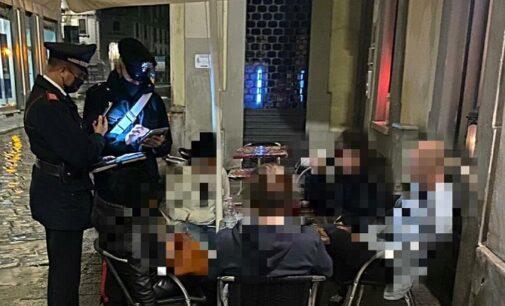 PAVIA 11/10/2020: Controlli anti Covid sulla Movida. I carabinieri sanzionano bar e persone