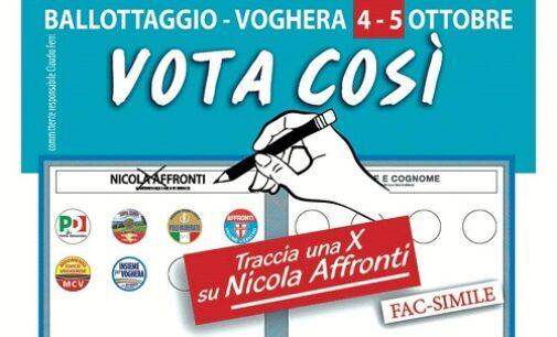 VOGHERA 02/10/2020: Elezioni. Ballottaggio. L'appello al voto del candidato Nicola Affronti