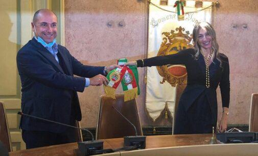 """VOGHERA 07/10/2020: Esce Barbieri entra Garlaschelli. Passaggio di consegne oggi a palazzo Gounela. """"Lascio un ente economicamente solido"""". """"Siamo già al lavoro"""""""