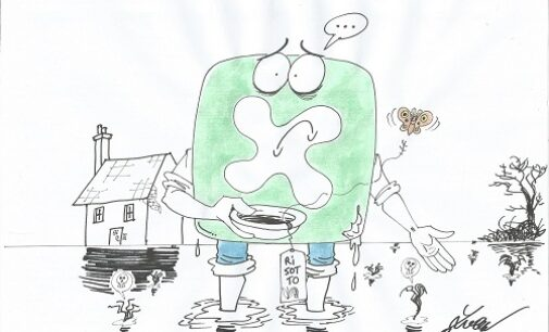 VOGHERA 06/10/2020: Riso Amaro. L'alluvione che ha distrutto il raccolto vista dal vignettista Luca Cavallaro