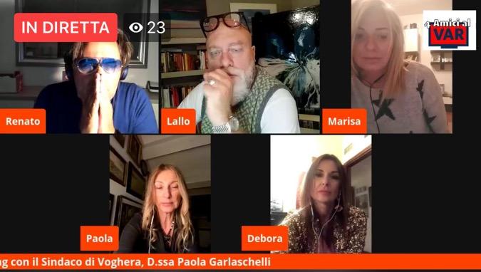 Paola Garlaschelli sindaco intervista 4 amici al var