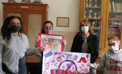VOGHERA 26/11/2020: Scuola. I ragazzi dell'IC Sandro Pertini contro la violenza di genere