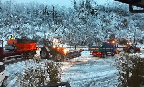 VOGHERA VARZI 08/12/2020: Terminato ieri mattina lo sgombero della neve sulla Sp461