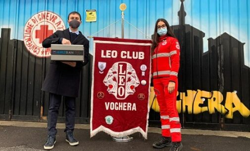 VOGHERA 05/01/2021: Alla Cri in dono dal Leo Club l'apparecchio per sanificare mezzi e ambienti