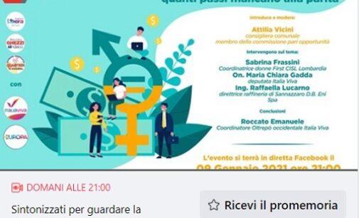"""VOGHERA 08/01/2021: Sabato incontro fb in tema di """"Donne e lavoro"""". Diretta dalle 21"""