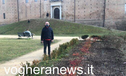 VOGHERA 24/02/2021: Giardini di piazza Castello. Le proposte dell'Italia del Rispetto per riqualificare l'area
