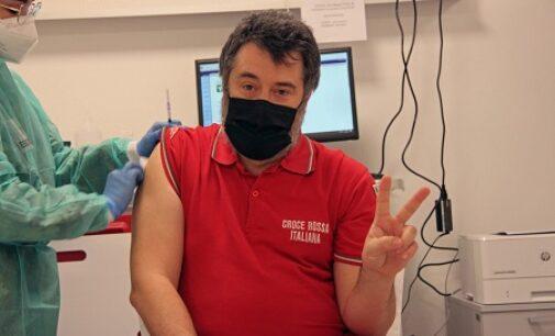 CASTEGGIO 09/02/2021: Vaccinazioni anti COVID. La Cri casteggiana completa anche la seconda dose