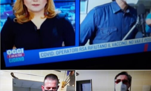 VOGHERA 26/02/2021: Rifiuto delle vaccinazioni alla casa di riposo. Alla Pezzani le telecamere di Rai 1