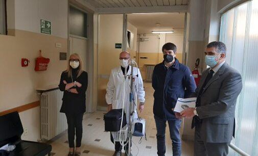 VARZI 11/02/2021: I membri della Sov donano all'ospedale uno strumento per il sostegno respiratorio