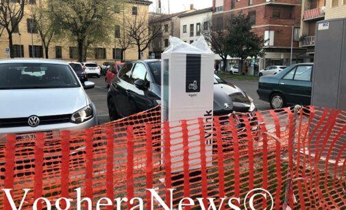 VOGHERA 25/03/2021: Auto elettriche. In corso la posa delle colonnine di ricarica. Cautela del Comune invece sui parcheggi gratuiti