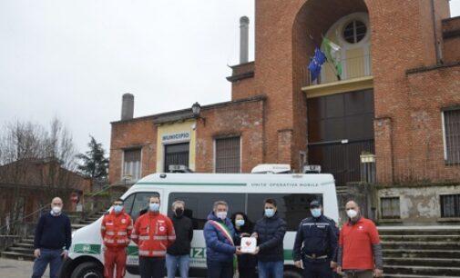 BRESSANA CASTEGGIO 09/03/2021: Consegnato il defibrillatore alla Polizia Locale di Bressana