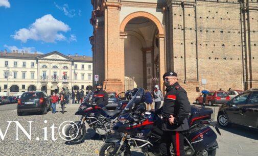 VOGHERA 14/03/2021: Sono tornati i carabinieri motociclisti. Oggi la prima uscita in città dopo anni di assenza