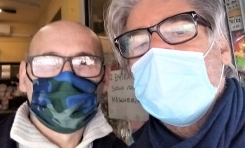 VOGHERA 09/03/2021: Le telecamere di Del Debbio in città per parlare della crisi economica e del nuovo Centro Vaccinale