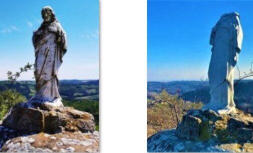 MONTALTO PAVESE 01/03/2021: Decapitata la statua del Cristo di località Costa del Vento