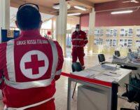 VOGHERA 16/03/2021: Vaccinazione anti coronavirus. Anche la Croce Rossa impegnata nell'attività del centro vaccinale all'Auser