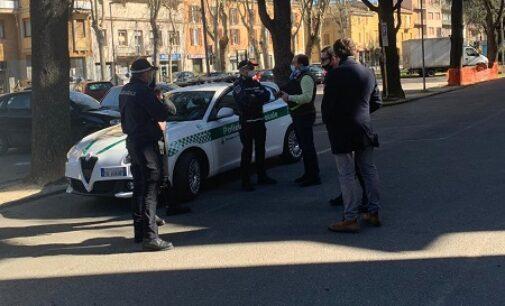VOGHERA 17/03/2021: La Polizia Locale continua i controlli nelle zone calde della città