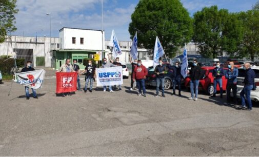 VOGHERA 05/05/2021: Sit‐in di protesta della polizia penitenziaria contro la gestione del carcere