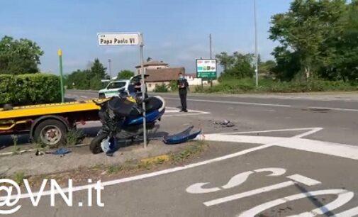 VOGHERA 28/05/2021: Mancata precedenza. Auto e scooter si scontrano. Un ferito