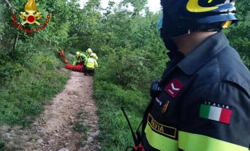 CECIMA VOGHERA 31/05/2021: Con la moto nei boschi. Cade in un dirupo e si ferisce