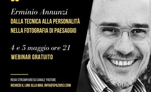 VOGHERA 03/05/2021: Fotografia. Quarto webinar di Spazio53. Conduce due serate Erminio Annunzi