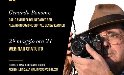 VOGHERA 24/05/2021: Fotografia. Sabato nuovo Webinar di Spazio53. Con Gerardo Bonomo