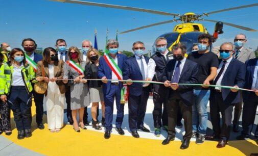 PAVIA 10/06/2021: Inaugurato l'eliporto dell'ospedale San Matteo. Da oggi fa parte del sistema di emergenza-urgenza