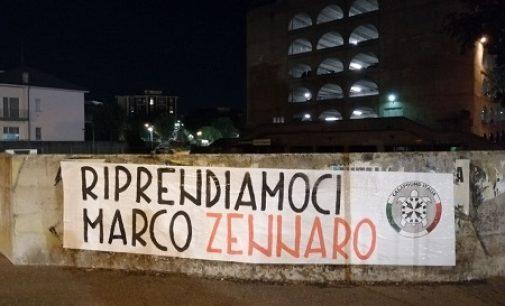 VOGHERA PAVIA 30/06/2021: Striscioni affissi anche in città per richiedere la liberazione di Marco Zennaro detenuto in Sudan