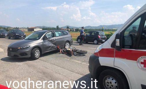 VOGHERA 21/07/2021: Strade. Scontro auto moto in via Piacenza