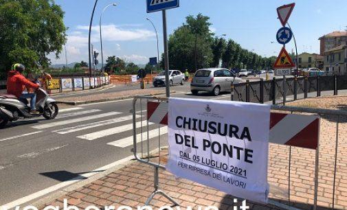 """VOGHERA 09/07/2021: Ponte Rosso chiuso. Verde più """"lungo"""" in strada Bobbio per 'facilitare' le vie alternative"""