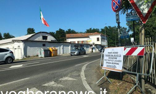 VOGHERA 07/07/2021: Ponte Rosso chiuso. Introdotto l'obbligo di svolta a destra in strada Grippina. Per le code in via Amendola il Comune suggerisce la Tangenziale