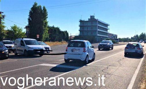 VOGHERA 05/07/2021: Chiusura del Ponte Rosso. Prime criticità nella viabilità su via Piacenza e strada Grippina. FOTO VIDEO