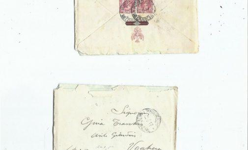 VOGHERA 22/09/2021: Trova una lettera indirizzata ad una vogherese nel '17. Appello per la ricerca dell'autore