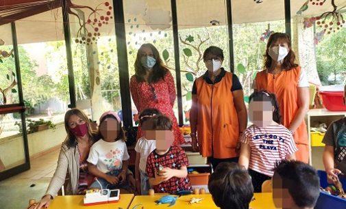 VOGHERA 07/09/2021: Primo giorno nelle scuole dell'infanzia. Sindaca e Vice in visita negli istituti