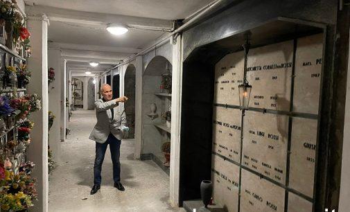 VOGHERA 21/09/2021: Cimitero Maggiore. Concluso il primo lotto di lavori. L'assessore: Risanate le infiltrazioni e rifatti i sotterranei