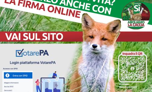 PAVIA VOGHERA PROVNCIA 18/09/2021: Referendum contro la caccia. Si può firmare anche via internet
