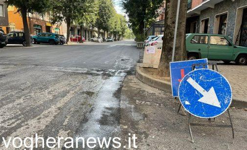 VOGHERA 21/09/2021: Strade. Nuovo asfalto in tre vie. Si parte con la martoriata via Verdi