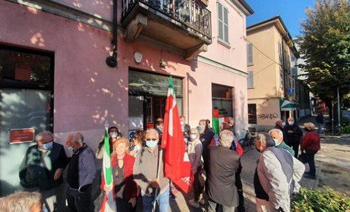 VOGHERA 11/10/2021: Sede della Cgil presidiata per protesta contro l'aggressione a Roma di Forza Nuova
