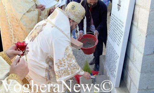 VOGHERA 15/10/2021: In via Oropa la prima chiesa parrocchiale Ortodossa Romena non solo della città ma anche della Lombardia. Ieri la posa della 'prima pietra'